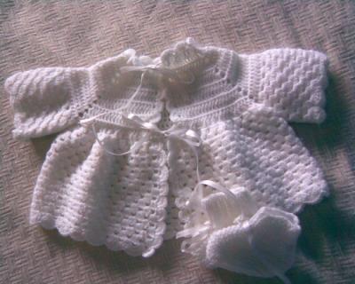 Conjunto de niño tejido a crochet