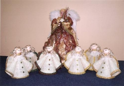 Casa hogar angeles de navidad manualidades - Angeles de navidad manualidades ...